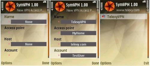 Lernprogramm Symbian VPN Schritt 3