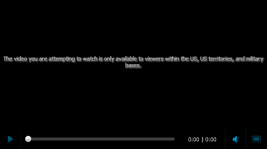 The vidéo you watch is unaivalable in your country