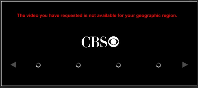 CBS blocked outside us