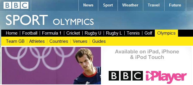 BBC Olympics outside UK