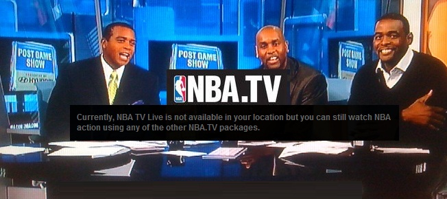 NBA tv outside us