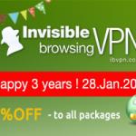 Anniversary discounts for ibVPN