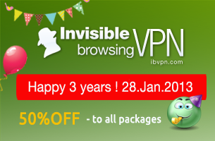 Anniversary discounts for ibVPN