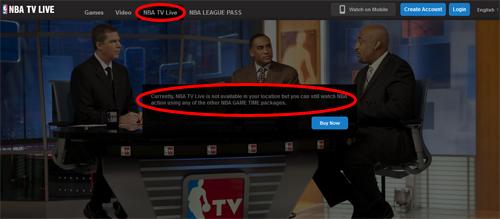 how to watch nba tv online